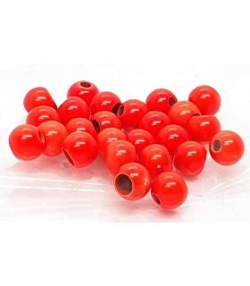 Hot colour brass beads