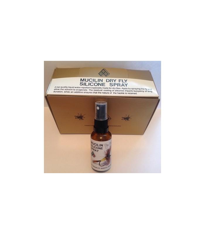 Muciline dry fly silicone spray