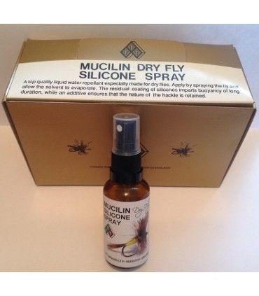 Muciline dry fly silicone spray