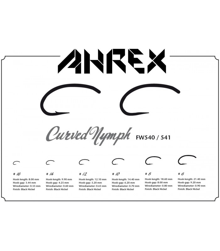 Ahrex FW540 - curved nymph